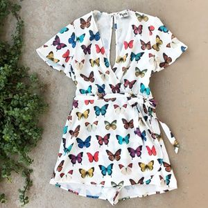 Show Me Your Mumu Butterfly Sabrina Wrap Romper